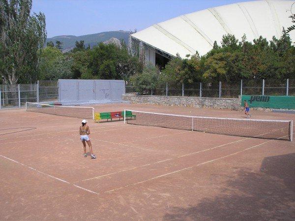 5 теннисных кортов