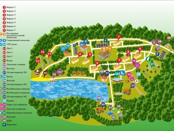 Схема территории Дома отдыха «Компонент»