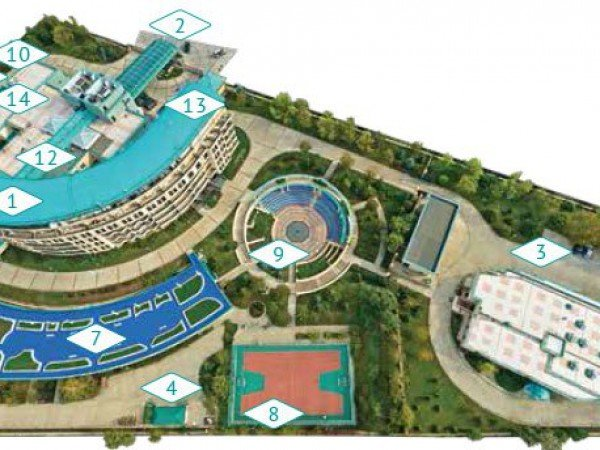 Схема санатория «Аквамарин»
