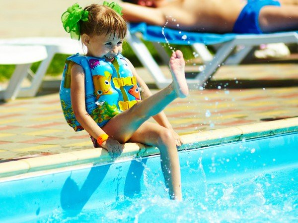 Детское отделение в открытом бассейне