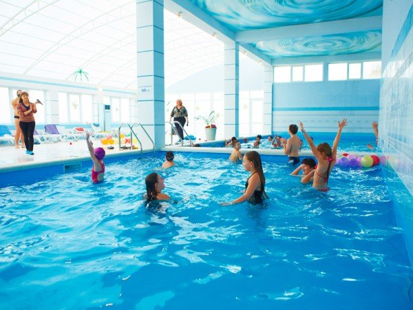 Детское отделение в крытом бассейне