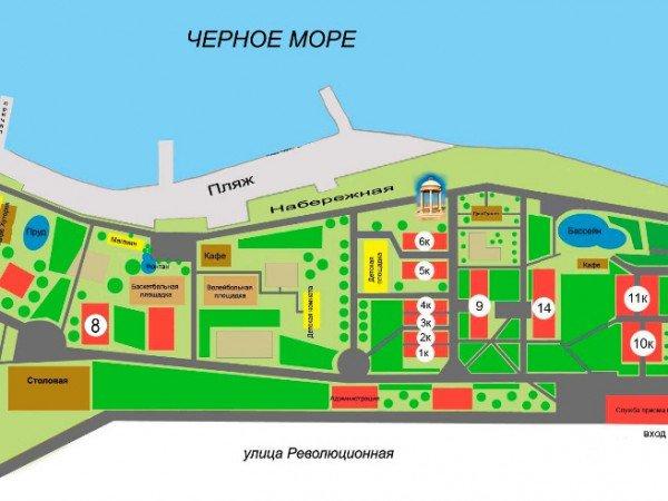План-схема территории Пансионата «Кабардинка»