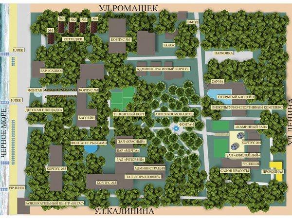 Карта санатория «Южное взморье»