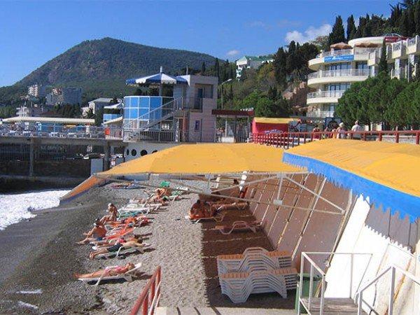 Оборудованный пляж