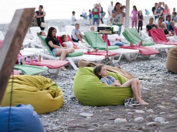 Развлечения на пляже санатория