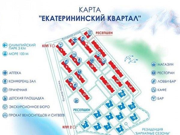 Карта отеля «Екатерининский квартал»