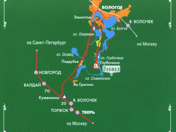 Схема проезда к Туристическому комплексу «Заимка»