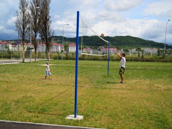 Баскетбольная и волейбольная площадки