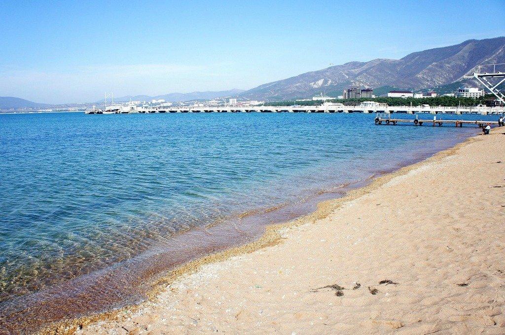 Фото моря и пляжа в геленджике