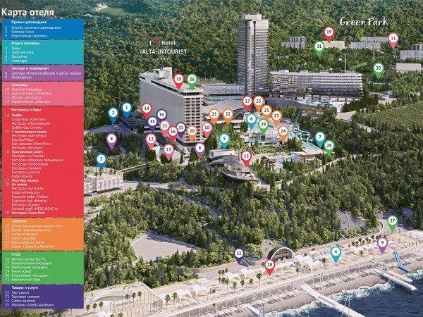 Карта отеля «Ялта-Интурист»