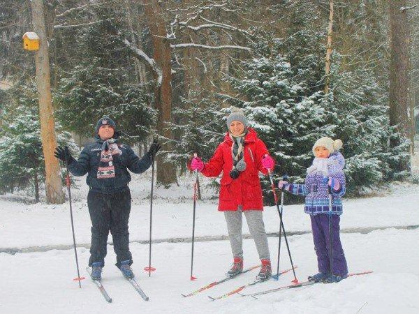 Лесной горнолыжный спуск