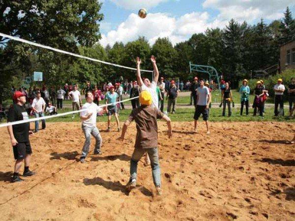Две волейбольные площадки