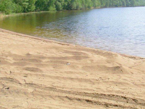 Большой пруд с пляжной зоной