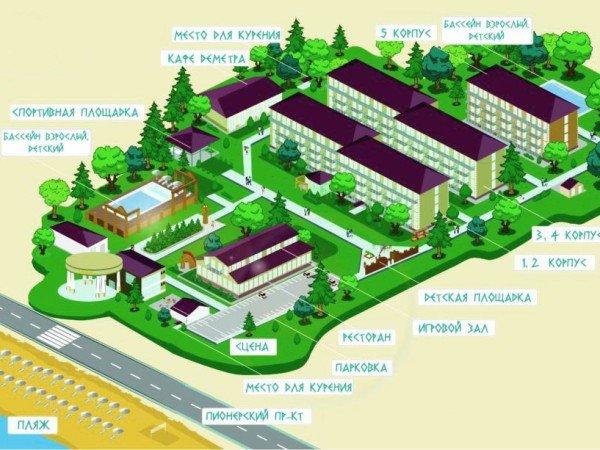 Карта отеля «Олимп»