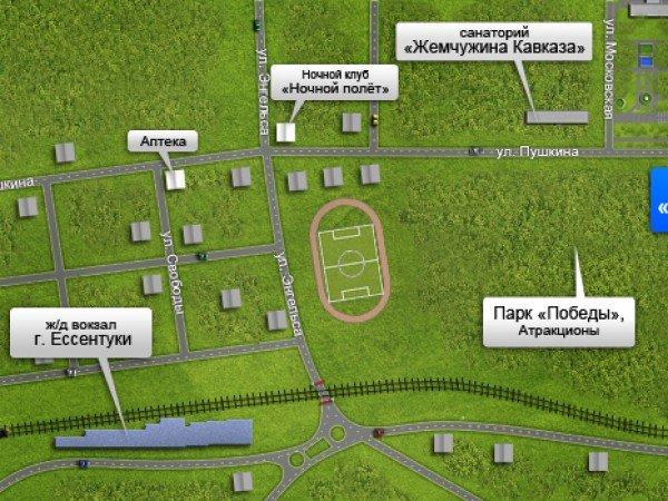 Схема проезда к Санаторию «Виктория»