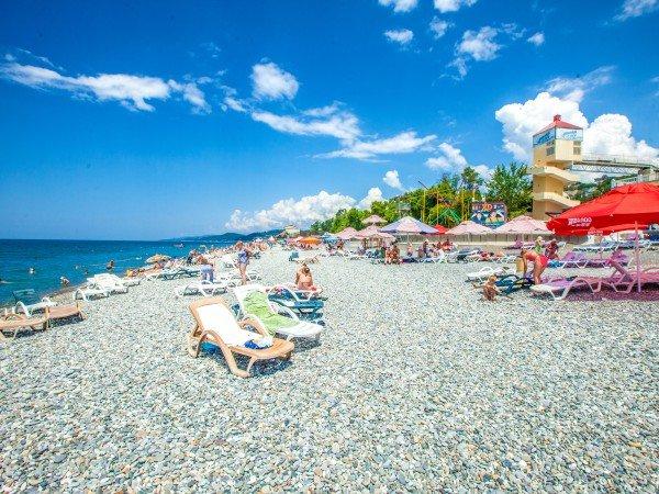Собственный пляж