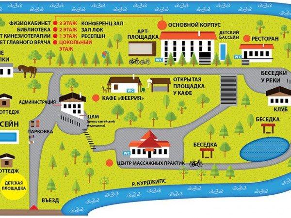 Схема здравницы «Лаго-Наки»