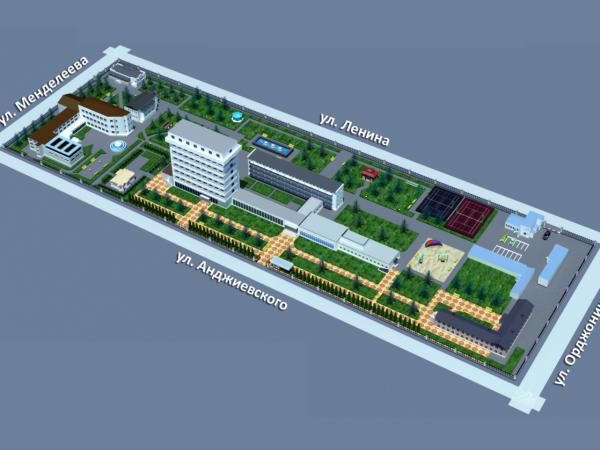 Схема санатория «Металлург»