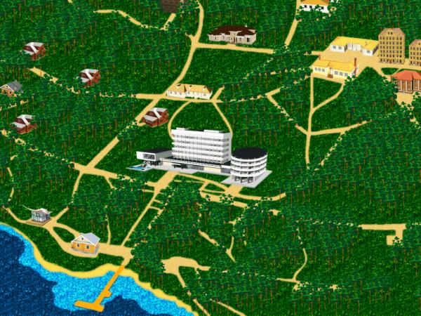 Схема санатория  «Сосны»