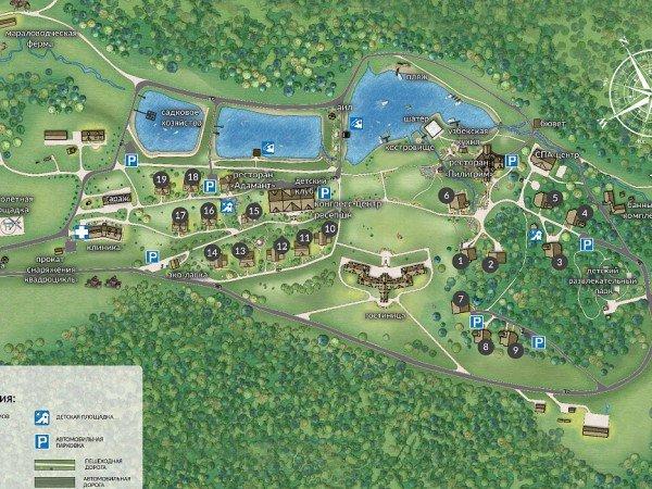 Карта территории Природно-оздоровительного комплекса «Алтай Resort»