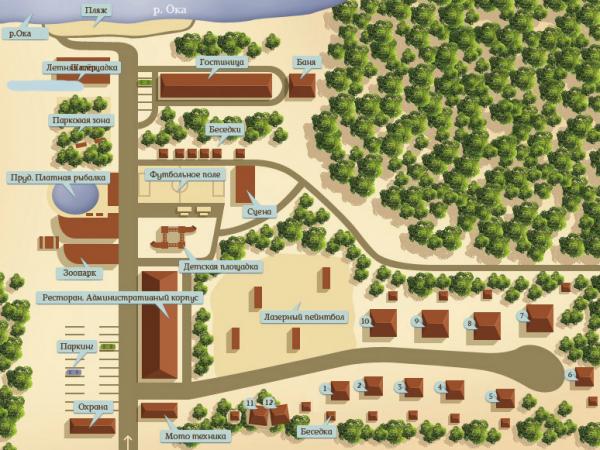 Карта территории дома отдыха «Серебряный век»