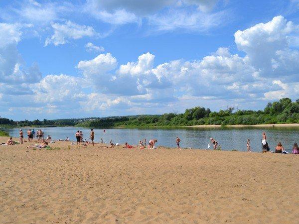 Пляж реки
