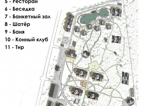 Схема отеля «4 Сезона»
