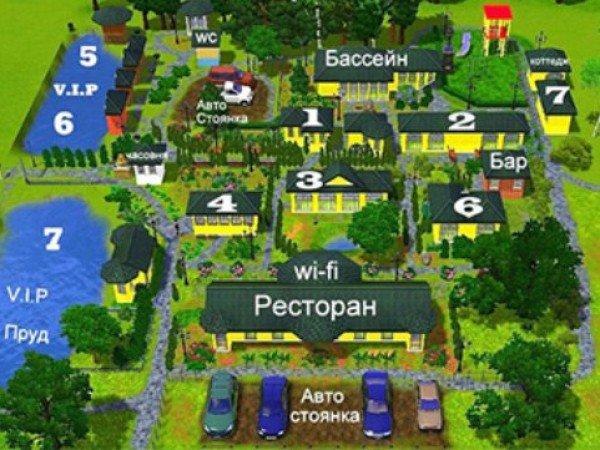 Схема отеля «Лесное»