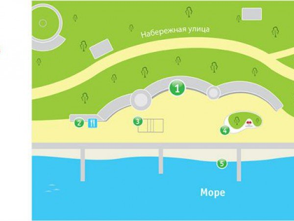 Схема территории отеля «Морской уголок»