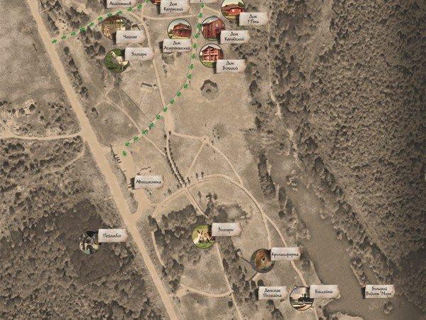 Карта базы отдыха «Сафари Паркъ»