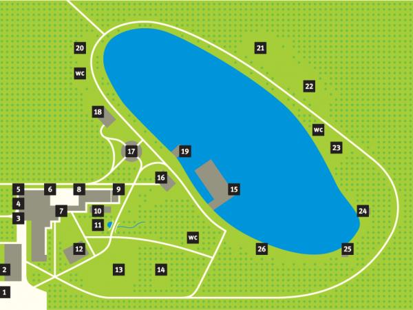 Карта территории парк-отеля «Анива»