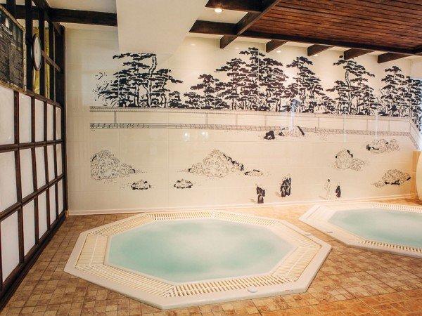 Контрастные японские ванны