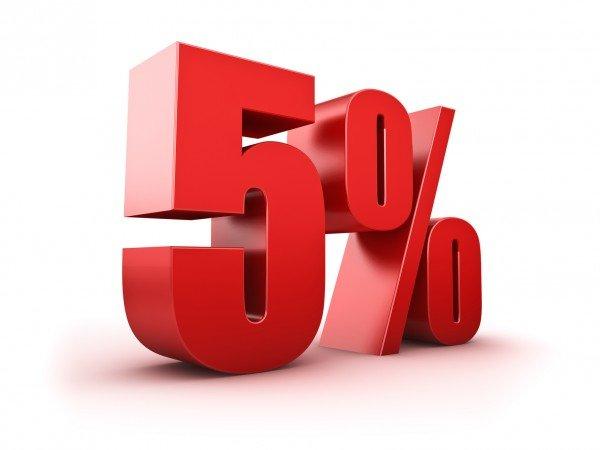 Скидка 5% на любой номер!