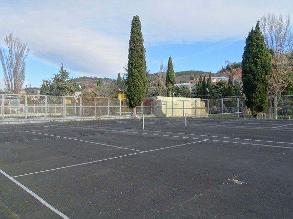 Два теннисных корта